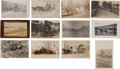 Western Expansion:Goldrush, Real Photo Postcards: 12 Montana Wagons & Stagecoach Scenes,... (Total: 12 Items)