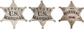 Western Expansion:Cowboy, Lot of Three Marshals' Badges.... (Total: 3 Items)