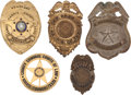 Western Expansion:Cowboy, Lot of Five Harris County (Houston) Texas Law Enforcement Badges.... (Total: 5 Items)
