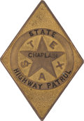 Western Expansion:Cowboy, Rare Texas Highway Patrol Chaplain's Badge....