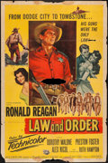 "Movie Posters:Western, Law and Order (Universal International, 1953). One Sheet (27"" X 41""). Western.. ..."