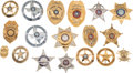 Western Expansion:Cowboy, Large Lot of Eighteen Texas Law Enforcement Badges.... (Total: 18Items)