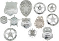 Western Expansion:Cowboy, Lot of Twelve Texas Law Enforcement Badges.... (Total: 12 Items)