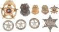 Western Expansion:Cowboy, Lot of Nine Law Enforcement Badges.... (Total: 9 Items)