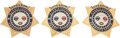 Western Expansion:Cowboy, Trio of Harris County (Houston) Super Bowl XXXVIII CommemorativeSheriff's Office Badges.... (Total: 3 Items)
