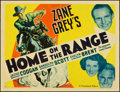 """Movie Posters:Western, Home on the Range (Paramount, 1935). Half Sheet (22"""" X 28"""") Style B. Western.. ..."""