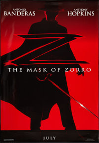"""The Mask of Zorro (Tri-Star, 1998). Bus Shelter (47"""" X 68"""") DS Advance. Action"""
