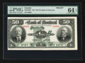 Canadian Currency: , Montreal, PQ- The Bank of Montreal $50 Sept. 3, 1912 Ch # 505-52-08P Face Proof. ...