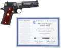 Handguns:Semiautomatic Pistol, Limited Edition Cased Colt Model 1911 Texas Ranger Tribute Semi-Automatic Pistol....