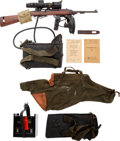 Long Guns:Semiautomatic, Korean War Era Inland U.S. M1 Semi-Automatic Carbine Modified WithInfrared M2 Sniper Scope.... (Total: 3 Items)