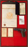 Handguns:Semiautomatic Pistol, Colt Model 1903 Semi-Automatic Pistol and Identification DocumentsBelonging to U.S. Customs Agent Alvin F. Scharff from San A...(Total: 2 Items)