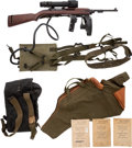 Long Guns:Semiautomatic, Rare Inland U.S. T3 Semi-Automatic Carbine and Accessories....(Total: 4 Items)