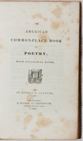 Books:Literature Pre-1900, George B. Cheever. The American Common-Place Book of Poetry. Hooker, 1843. Contemporary leather with light rubbing. ...