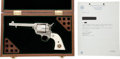Handguns:Single Action Revolver, Cased Custom Engraved Colt Single Action Revolver Belonging toSenior Texas Ranger Captain Clint Peoples together with a Typed...