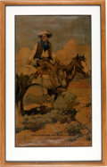 Advertising:Signs, Framed Tex & Patches Colt Patent Firearms Advertising Print by Frank Schoonover....