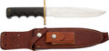 Edged Weapons:Knives, Randall Model 14 Attack Knife with Scabbard....