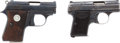 Handguns:Semiautomatic Pistol, Lot of Two Semi-Automatic Pocket Pistols.... (Total: 2 Items)