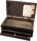Arms Accessories:Tools, Wooden Salesman's Display Box with Colt Advertising....