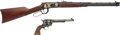 Long Guns:Lever Action, Boxed and Cased Winchester 94 Carbine and Matching Commemorative Colt Single-Action Army Revolver With Factory Letter.... (Total: 3 Items)