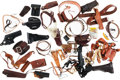 Arms Accessories:Holsters, Large Lot of Gun Related Leather Items....