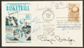 Basketball Collectibles:Others, Basketball Legends Multi Signed First Day Cover....