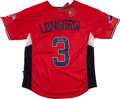 Baseball Collectibles:Uniforms, Evan Longoria Signed All Star Jersey. ...