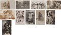 Western Expansion:Indian Artifacts, Real Photo Postcards: Ten California Indian Scenes,... (Total: 10Items)