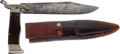 Edged Weapons:Knives, Rare Large British Folding Bowie Knife by Mitchell & Co., Manchester....