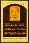 Baseball Collectibles:Others, Elmer Flick Signed Hall of Fame Postcard. ...