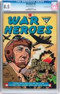Golden Age (1938-1955):War, War Heroes #5 File Copy/Double Cover (Dell, 1943) CGC VF+ 8.5 Creamto off-white pages....