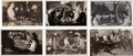 Miscellaneous:Gaming Chips, Real Photo Postcards: Six Nevada Gambling Scenes,... (Total: 6Items)
