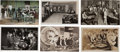 Western Expansion:Cowboy, Real Photo Postcards: Five Scenes & One Print of NevadaGambling Halls,... (Total: 6 Items)