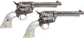 Handguns:Single Action Revolver, Rare and Historic Consecutively Numbered and Factory Engraved Pair of First Generation Colt Single Action Revolvers Attributed... (Total: 2 Items)