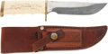 Edged Weapons:Knives, M. W. Seguine Skinning Knife owned by Warren Page. . ...