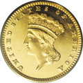 Proof Gold Dollars: , 1876 G$1 PR63 PCGS. As an issue, the 1876 is the rarest gold dollar delivered after 1875. Only 3,200 business strikes were ...