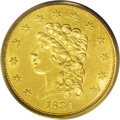 Classic Quarter Eagles: , 1834 $2 1/2 Classic MS61 PCGS. Small Head, Breen-6138, R.2. This issue, the first quarter eagle to use the new design by Wi...