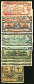 Canadian Currency: , An Assortment of Canadian Material.. ... (Total: 12 notes)