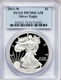 Modern Bullion Coins, 2011-W $1 Silver American Eagle PR70 Deep Cameo PCGS. PCGSPopulation (2208). NGC Census: (5318). Numismedia Wsl. Price fo...