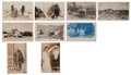 Western Expansion:Indian Artifacts, Real Photo Postcards: Nine Nevada Indian Views,... (Total: 9 Items)