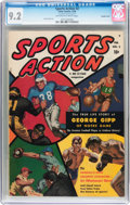 Golden Age (1938-1955):Non-Fiction, Sports Action #2 Double Cover (Atlas, 1950) CGC NM- 9.2 Off-whiteto white pages....