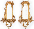 Decorative Arts, Continental:Other , A PAIR OF ITALIAN ROCOCO-STYLE CARVED GILT WOOD MIRRORS . Makerunknown, Italy, circa 1900. 36 x 22-1/2 x 4 inches (91.4 x 5...(Total: 2 Items)