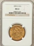Liberty Eagles: , 1895-O $10 MS61 NGC. NGC Census: (187/105). PCGS Population(104/98). Mintage: 98,000. Numismedia Wsl. Price for problem fr...