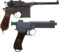 Handguns:Semiautomatic Pistol, Lot of Two German Semi-Automatic Pistols.... (Total: 2 Items)