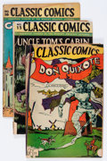 Golden Age (1938-1955):Classics Illustrated, Classic Comics Group (Gilberton, 1944-46).... (Total: 5 Comic Books)