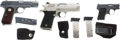 Handguns:Semiautomatic Pistol, Lot of Three Semi-Automatic Pistols.... (Total: 5 Items)