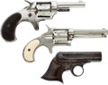 Handguns:Single Action Revolver, Lot of Three Antique Remington Pistols.... (Total: 3 Items)