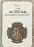 Proof Seated Half Dollars: , 1879 50C PR64 NGC. NGC Census: (75/59). PCGS Population (98/38).Mintage: 1,100. Numismedia Wsl. Price for problem free NGC...