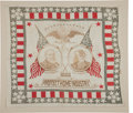 Political:Textile Display (pre-1896), Harrison & Morton: Jugate Bandanna....