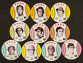 Baseball Cards:Sets, 1976 Towne Club Potato Chips Baseball Discs Complete Set (70). ...