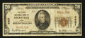 National Bank Notes:Ohio, Hicksville, OH - $20 1929 Ty. 1 The First NB Ch. # 4867. ...